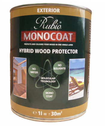 Rubio monocoat hybrid wood protector rubio monocoat - Rubio monocoat exterieur ...